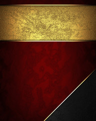 Red texture with gold nameplate and with black corner