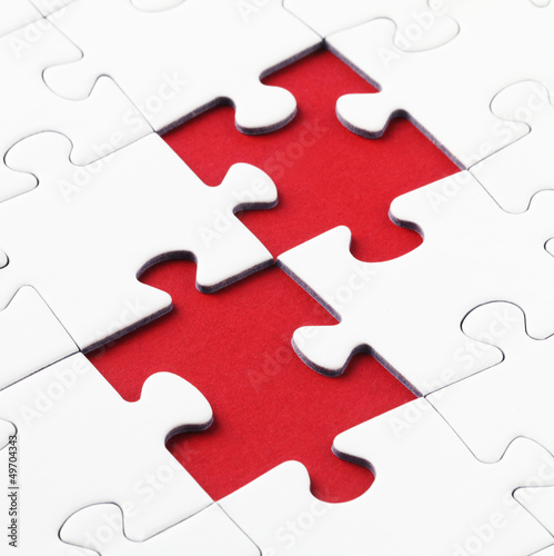 Jig Saw Puzzle - Two Pieces Missing