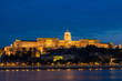 Night view of Buda Castle and Danube river, Budapest