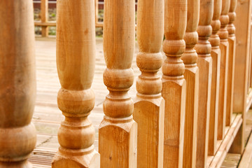 Row of carved Balustrades