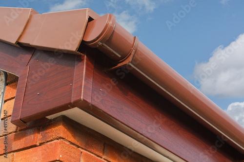 Leinwanddruck Bild Roofline PVCU Soffit fascia board