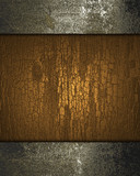 Fototapety Brown background with texture of wood with rusty edges