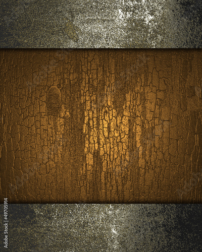 Brown background with texture of wood with rusty edges