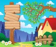 Wooden signboard theme image 3