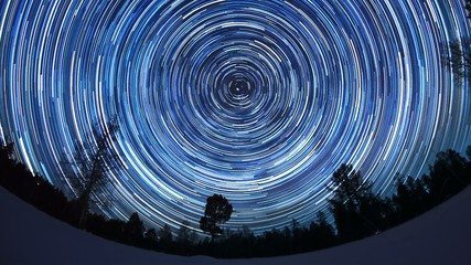 Stars leave tracks. Timelaps UltraHD