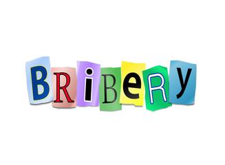 Bribery concept.