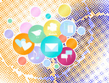 Social media and network concept,vector