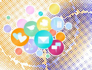 Social media and network concept,vector