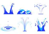 Fototapety 6 effets d'eau