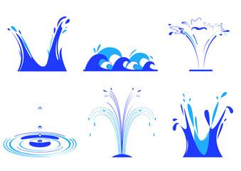 6 effets d'eau