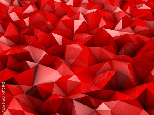 red abstract shapes