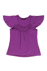 Lilac blouse isolated