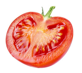 Tomato. half isolated on white background. clipping path