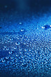 droplets on blue