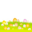 Easter Card Meadow Eggs Purple
