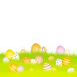 Easter Card Meadow Eggs Purple