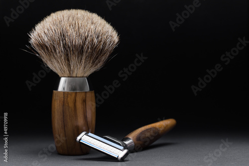 Shaving Tools on black Background