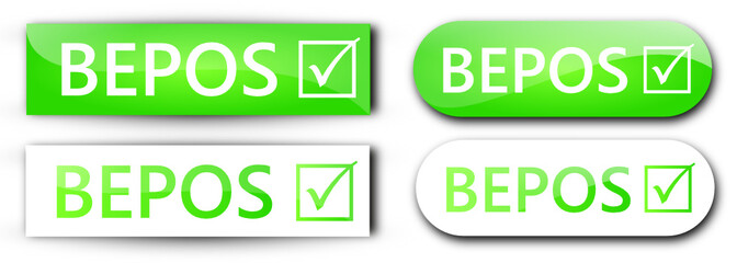 4 étiquettes BEPOS Vertes