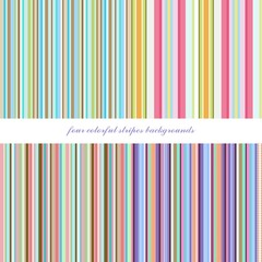 four colorful stripes backgrounds