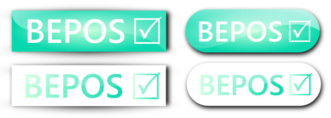 4 étiquettes BEPOS Bleues