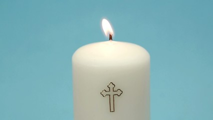 Christian candle burning
