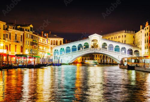 Plexiglas Venice Rialto Bridge (Ponte Di Rialto) in Venice, Italy