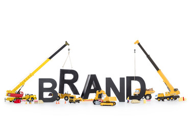 Brand start up: Machines building brand-word.
