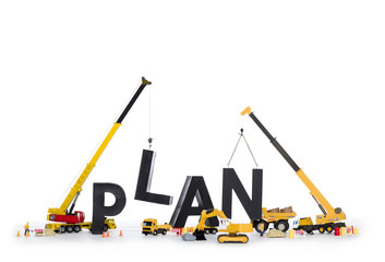 Build up a plan: Machines building plan-word.