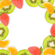 Cadre carré fruits d'hiver