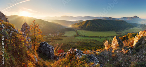 Mountain panorama in Slovakia - spring