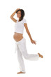 Glückliche schwangere Frau tanzt - pregnant woman dancing
