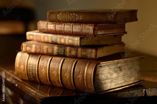 Leinwandbild Motiv VintageBooks.Selective focus