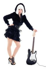 Rockstar mit E-Gitarre