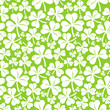 Vector seamless pattern with clover leaf