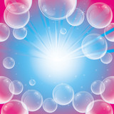 Absract background with soap bubbles