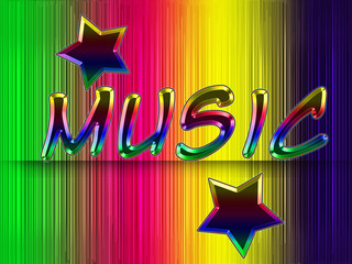 Musical abstract background with stars