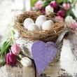 nostalgisches Osterkörbchen mit Herz