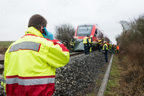 Bahnunfall - Rettungsdienst - 49716332