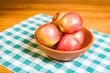 Bowl of fresh Fuji apples