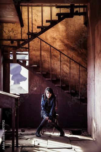 Lone woman portrait