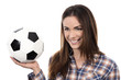 adult woman with ball