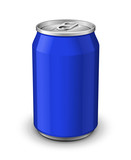 Blue Aluminum Can: Vector Version