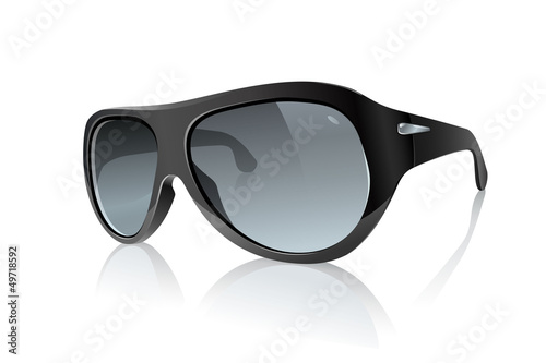 Cool Photo Realistic Black Sunglasses: Raster Version