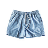 Cyan swimming shorts