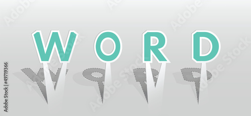 Illustration of WORD word