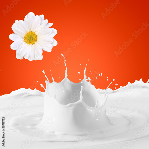 Image of milk splashes