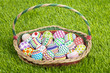 Basket full of easter eggs