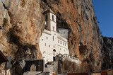 The old famous Monastery Ostrog in the rocks, Montenegro