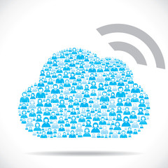 people make cloud computing concept