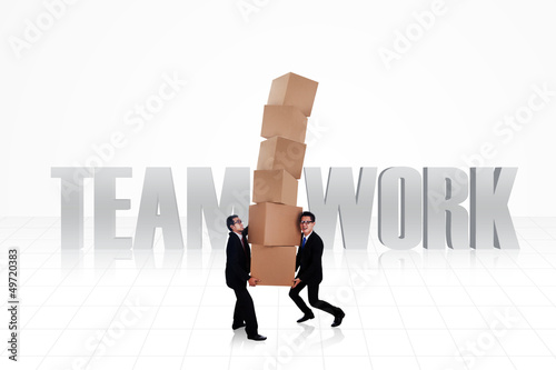 Business teamwork isolated